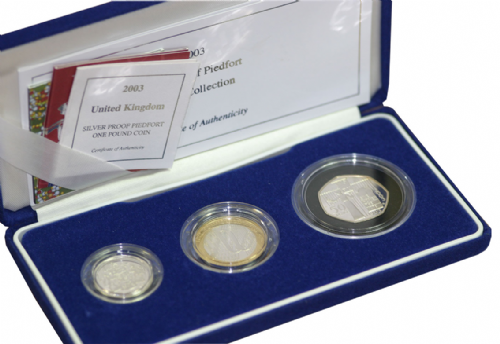 2003 3 Coin Silver Proof Piedfort Collection